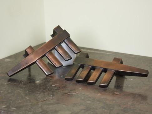 Pair of door handles